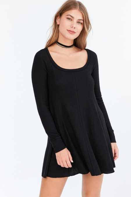 BDG Aiden Cozy Swing Mini Dress