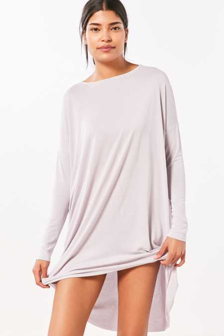 Silence + Noise Vienna Long-Sleeve Dolman Mini Dress