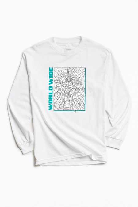 UO Artist Editions Victoria Hutto World Wide Web Long Sleeve Tee