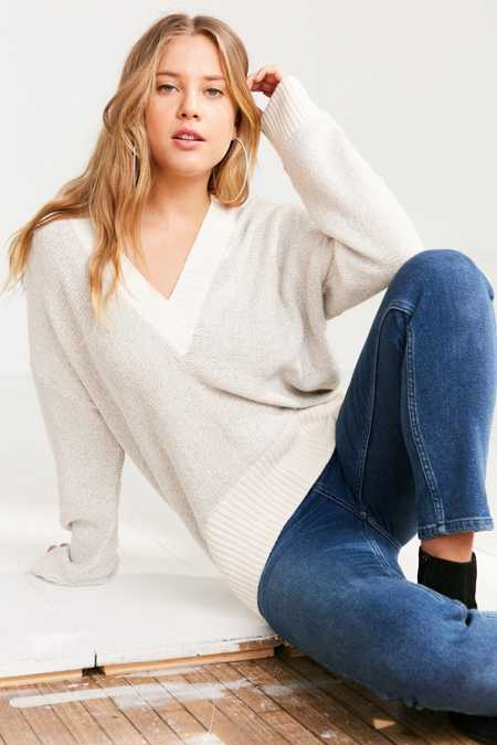 Silence + Noise Remy Deep V Sweater