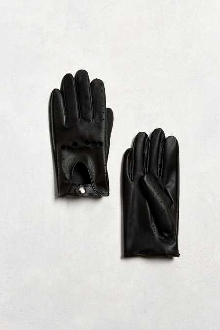 Faux Leather Driving Glove