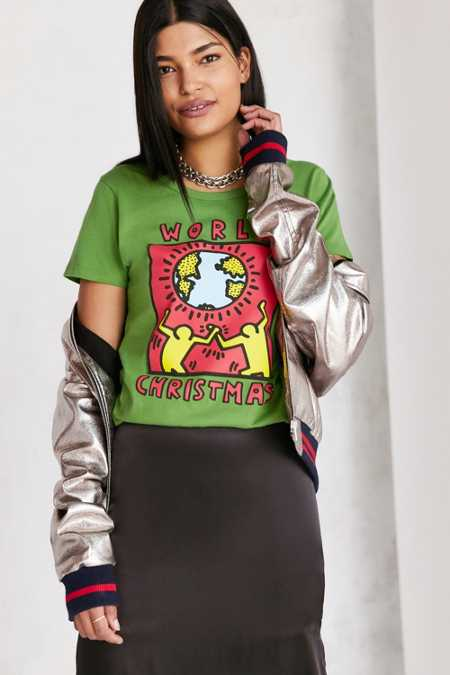 Junk Food Keith Haring Holiday Tee