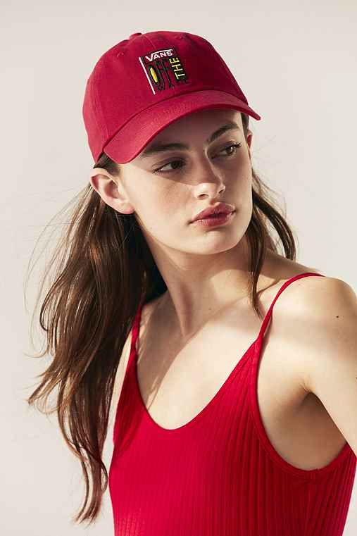 Vans & UO Courtside Baseball Hat,RED,ONE SIZE