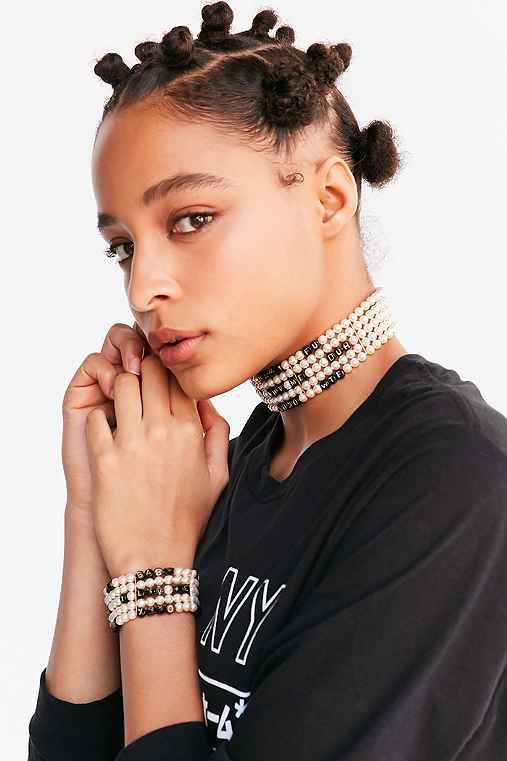 Venessa Arizaga Whatcha Say Pearl Bracelet,WHITE,ONE SIZE