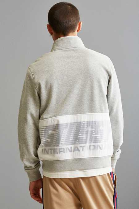 Stussy Nylon Panel Mock Neck Sweatshirt