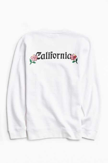 Stussy Cali Embroidered Crew Neck Sweatshirt