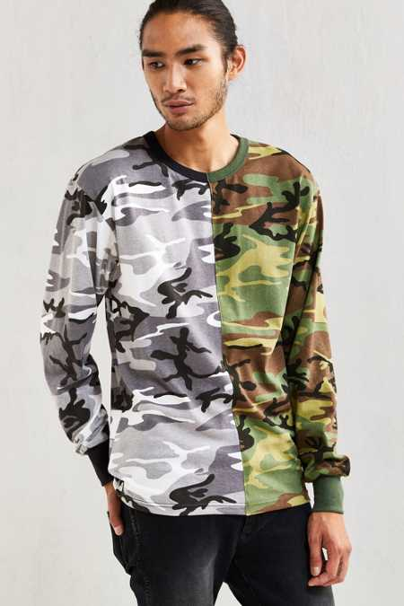 Spliced Rothco Camo Long-Sleeve Tee