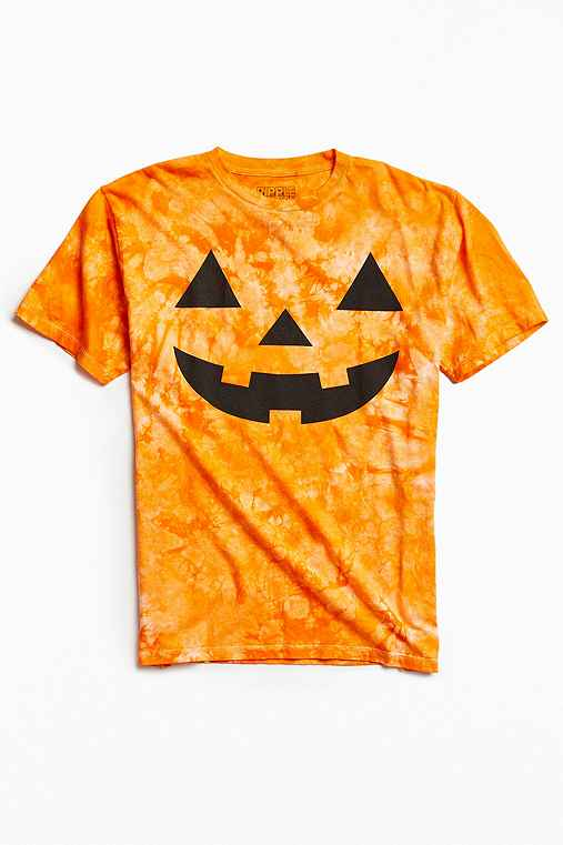 Pumpkin Face Tee,ORANGE,XL