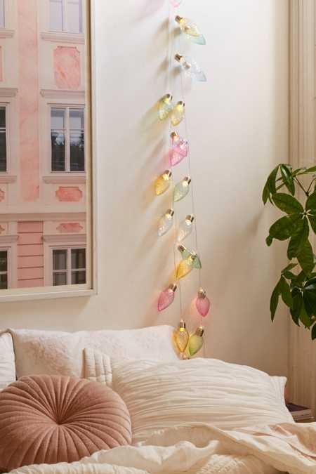 Battery Powered Pastel Bulb String Lights