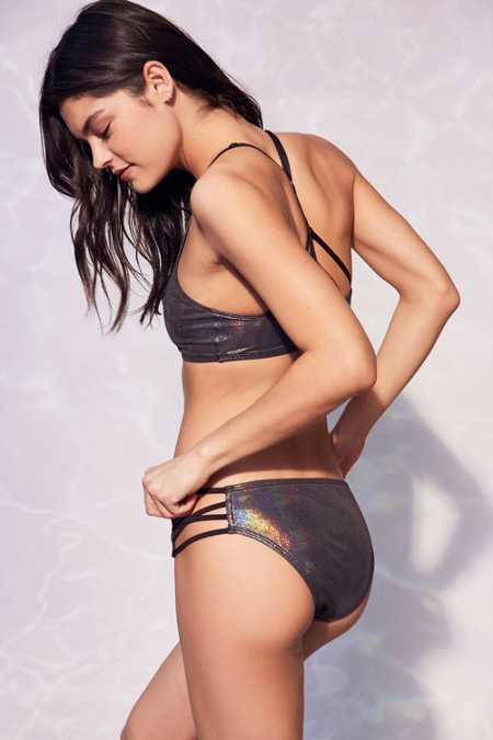 Out From Under Foil Strappy Bikini Bottom