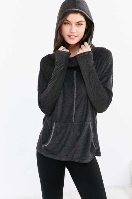 Project Social T X Out From Under Cowl Neck Hoodie Sweatshirt