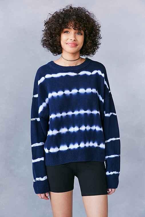 Ecote Tie-Dye Crew-Neck Sweater,BLUE MULTI,S