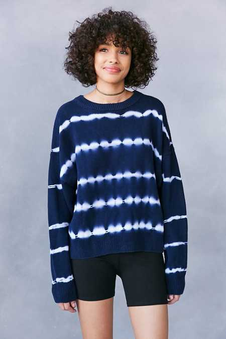 Ecote Tie-Dye Crew-Neck Sweater