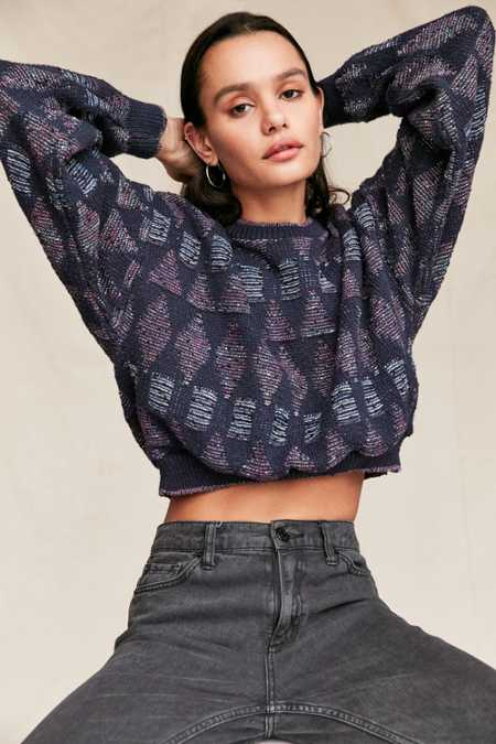 Urban Renewal Remade Cropped Printed Sweater