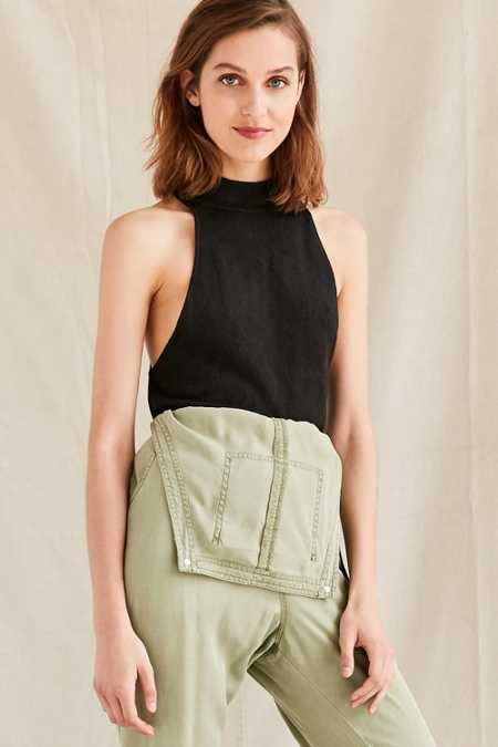 Urban Renewal Remade Cropped Turtleneck Sweater Tank Top