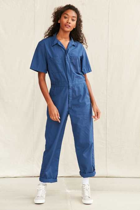 Vintage Short-Sleeved Lightweight Coverall