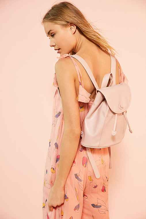 Classic Turn Lock Backpack,PINK,ONE SIZE