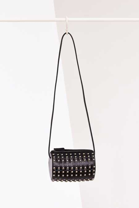 Studded Barrel Crossbody Bag