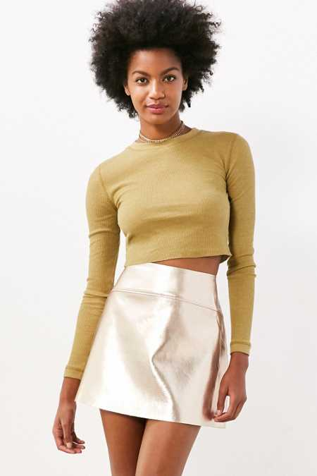 Silence + Noise Beverly Thermal Cropped Top