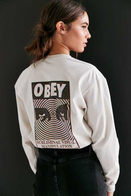 OBEY Subliminal Visual Long-Sleeve Tee
