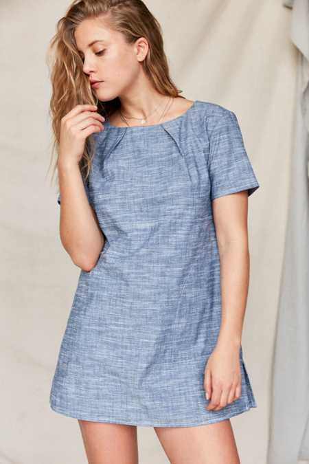 Urban Renewal Remade Back Pleat Shift Dress