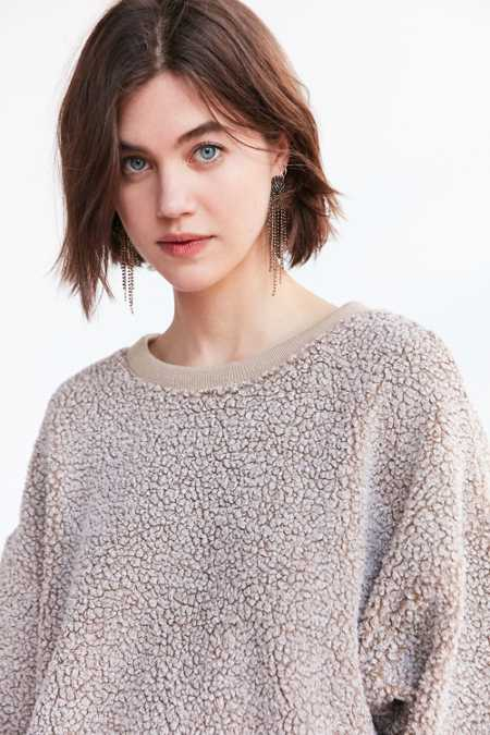 Silence + Noise Fluffy Pullover Sweatshirt