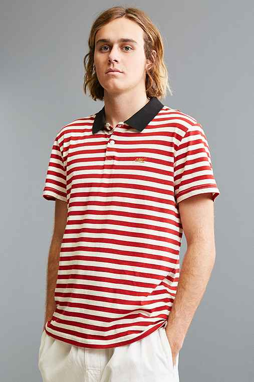 Loser Machine Polo Shirt,RED,S