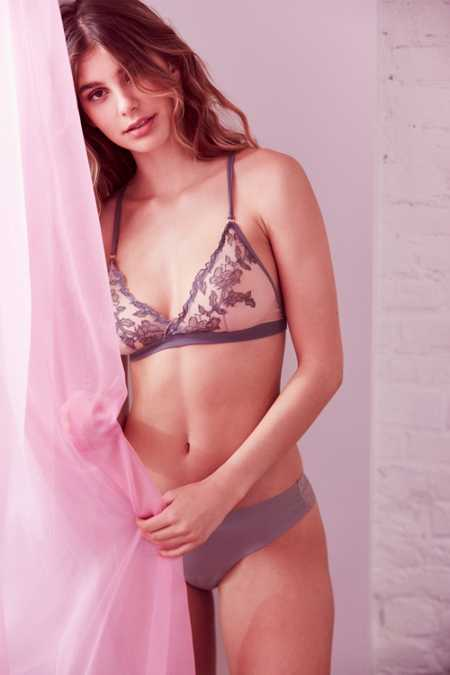Out From Under Gigi Floral Mesh Triangle Bra