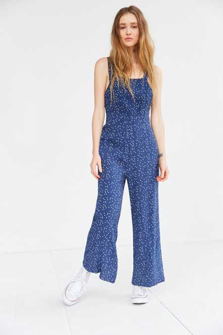 Rolla's Starry Night Polka Dot Culotte Jumpsuit