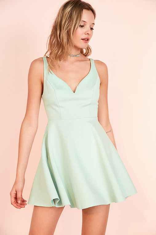 Kimchi Blue Heart Of The Ocean Sweetheart Mini Dress,MINT,M