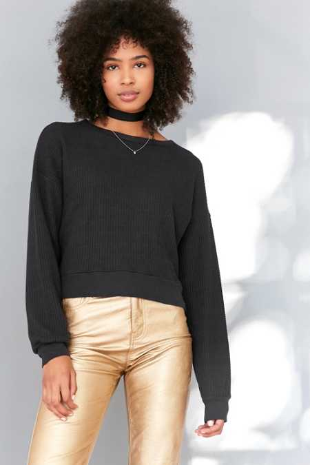 Truly Madly Deeply Paige Boxy Thermal Top