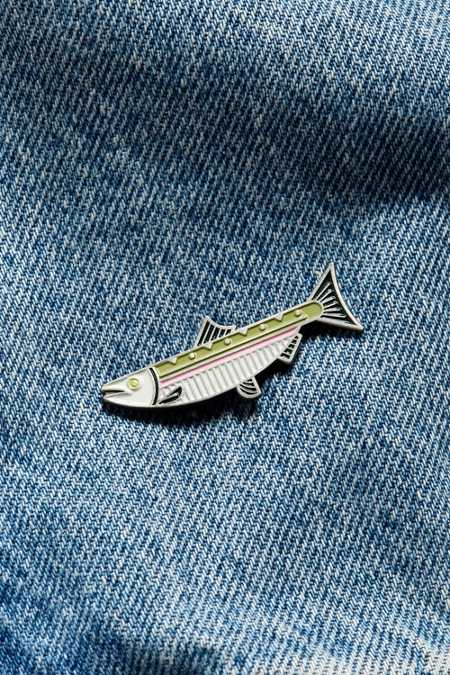 Lost Lust Steelhead Salmon Pin
