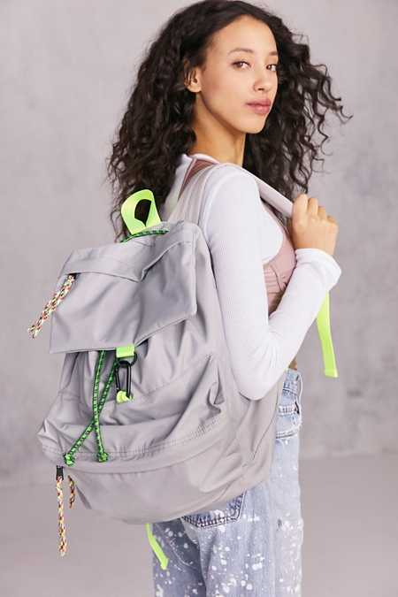 Nylon Bungee Flap Backpack