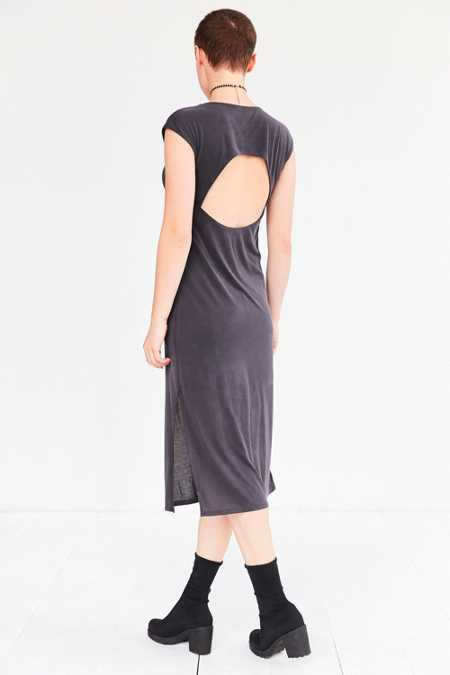 Silence + Noise Jensen Cutout Midi T-Shirt Dress