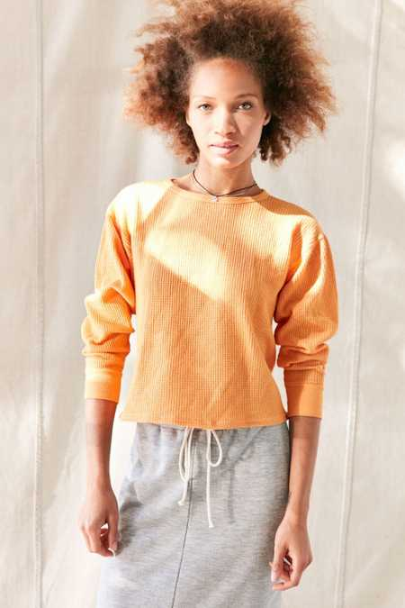 Urban Renewal Recycled Overdyed Thermal Top