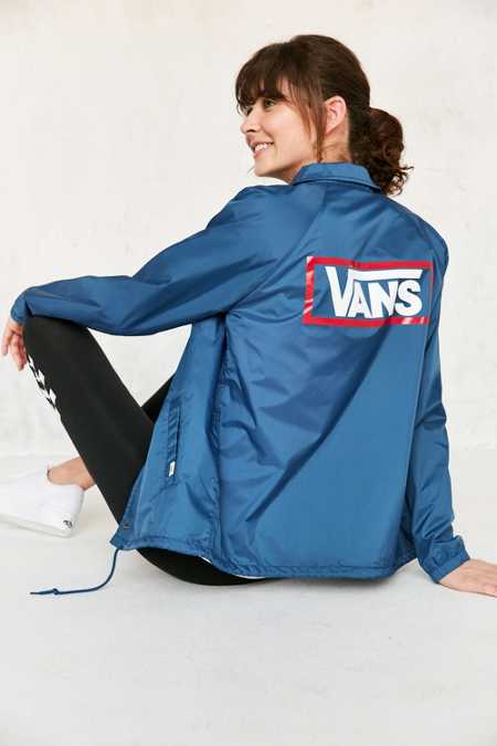 Vans & UO Blue Coach Jacket