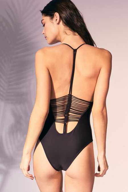 Amuse Society Logo One-Piece Swimsuit