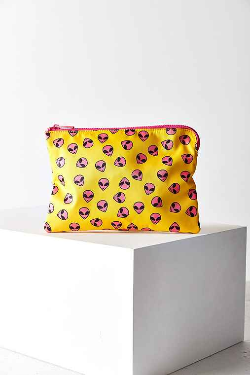 Printed Pouch,PINK,ONE SIZE