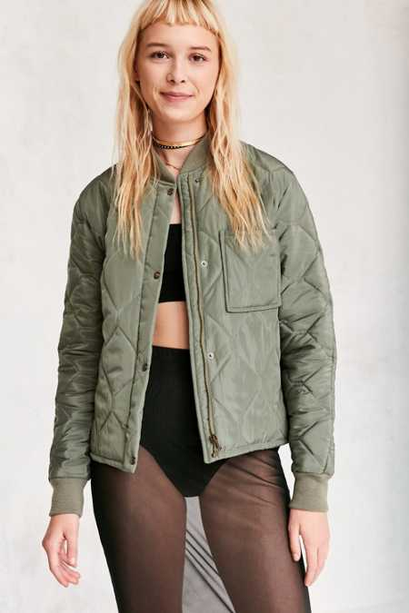 Silence + Noise Quilted Liner Bomber Jacket