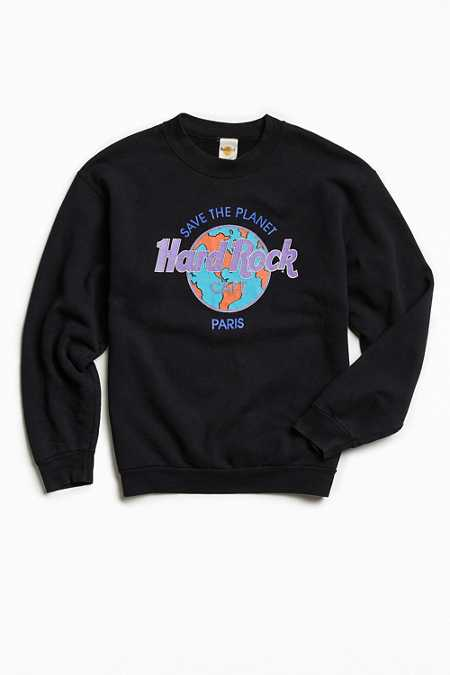 Vintage Hard Rock Paris Crew Neck Sweatshirt