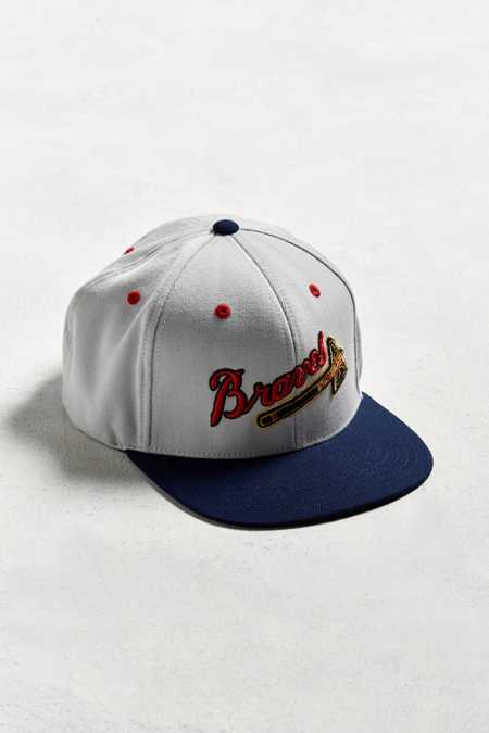 American Needle Big Show Milwaukee Braves Baseball Hat
