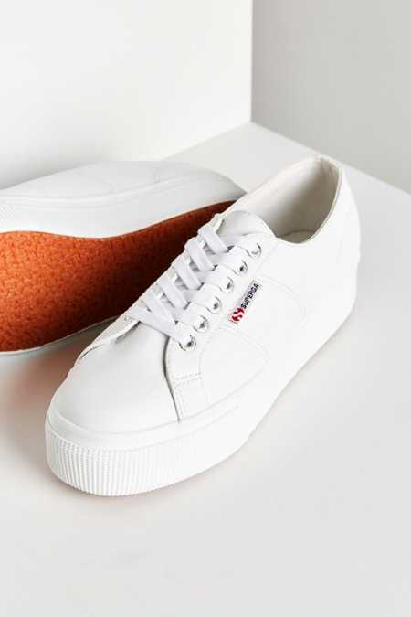 Superga 2790 Leather Platform Sneaker