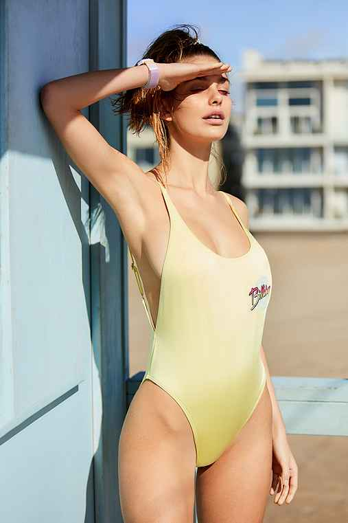 Billabong X UO Sunny Eyes One-Piece Swimsuit,GOLD,S