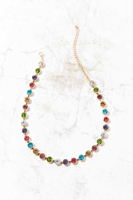Eleni Rainbow Choker Necklace