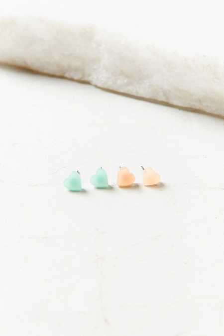 Candy Heart Post Earring