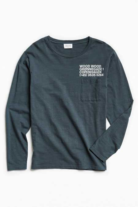 Wood Wood Peter Long Sleeve Tee