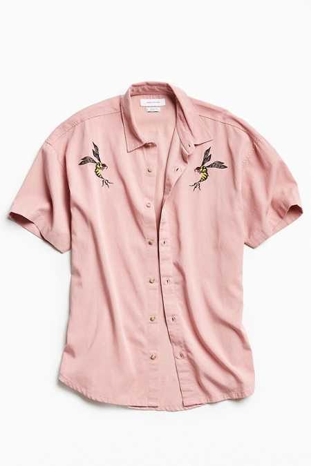 UO Customized Tencel Short Sleeve Button-Down Shirt