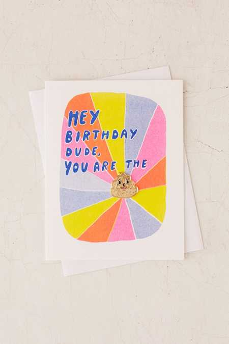 Yellow Owl Workshop Pin Dude Birthday Card