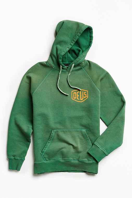 Deus Ex Machina Sunbleached Hoodie Sweatshirt,GREEN,XL