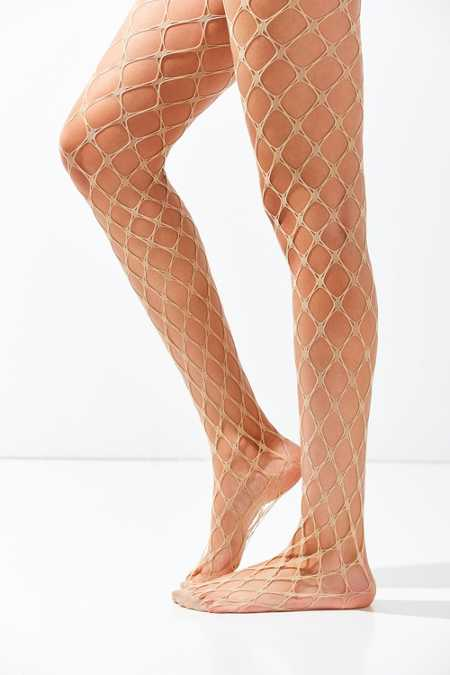 Exaggerated Diamond Fishnet Tight